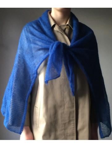 Ryškiai mėlynas džersio tipo trikotažas