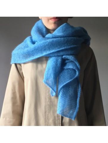Mėlynas ir pilkas raštuotas trikotažas