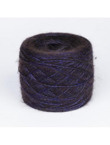Tamsiai ruda mohera su mėlynu merinu ir liureksu