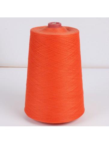 Oranžinė medvilnė su metalu