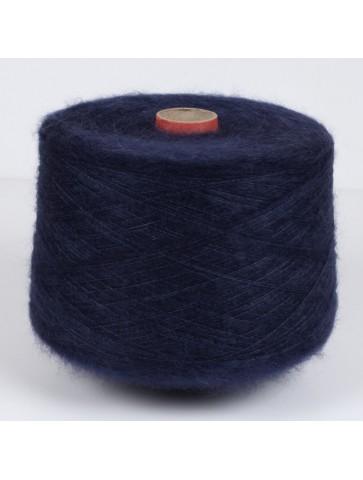Tamsiai mėlyna mohera su šilku