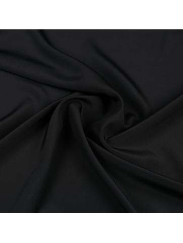 Juodas krepinis šilkas