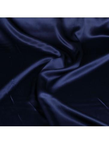 Tamsiai mėlynas atlasinis šilkas