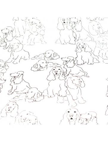 Viskozė su šuniukais