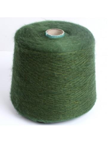 Žalia KID mohera su šilku