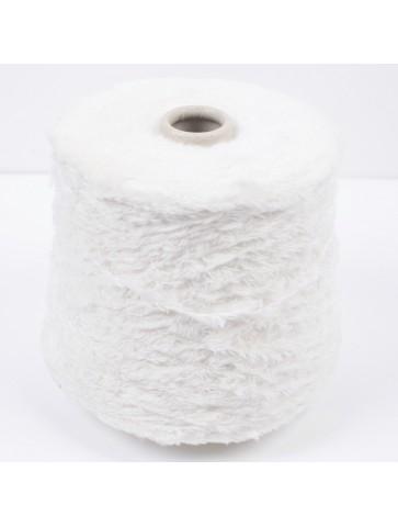 'Fuzzy' medvilnė su poliamidu (balta)