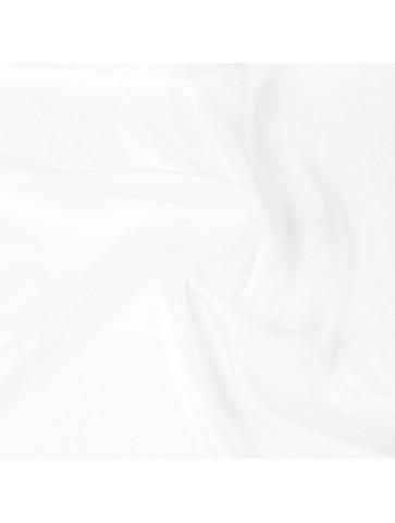Baltas šifoninis šilkas