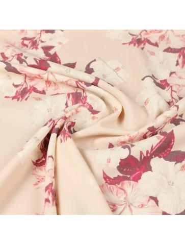 Gėlėta kostiuminė merino vilna