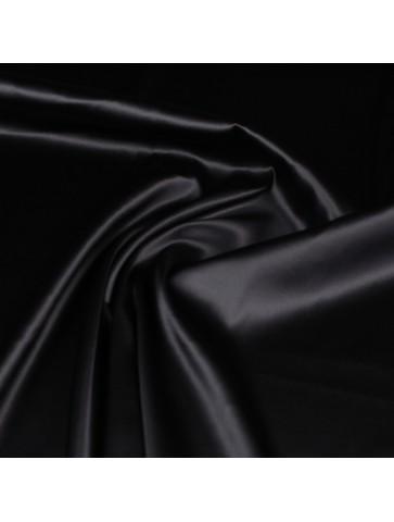 Juodas šilkas su elastanu